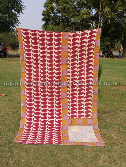 Soft and Light Weight Baby Kantha Blanket