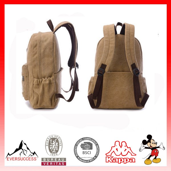 Hot Trend Canvas Backpack Wholesale Waxed Canvas Laptop Backpack(ESV407)