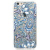 Printed White and Blue Mandala Patterned Design Soft cover TPU case