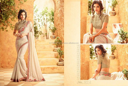 BUY DESIGNER SAREE WITH HEAVY BLOUSE ONLINE