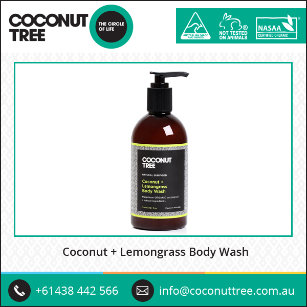 ISO Certified High Medicinal Value Organic Coconut and Lemongrass Body Wash