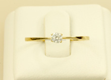CZ solitaire 1 gram gold jewellery yellow gold rings for women 10k gold jewellery
