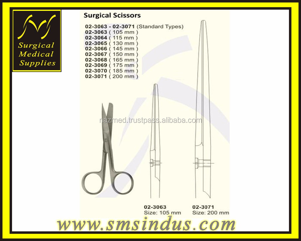 Surgical Oprating Scissors Standard Sh Bl