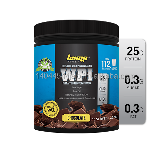 300g New Zealand Whey Protein Isolate (WPI) Chocolate 100% Naturally Flavoured & Sweetened