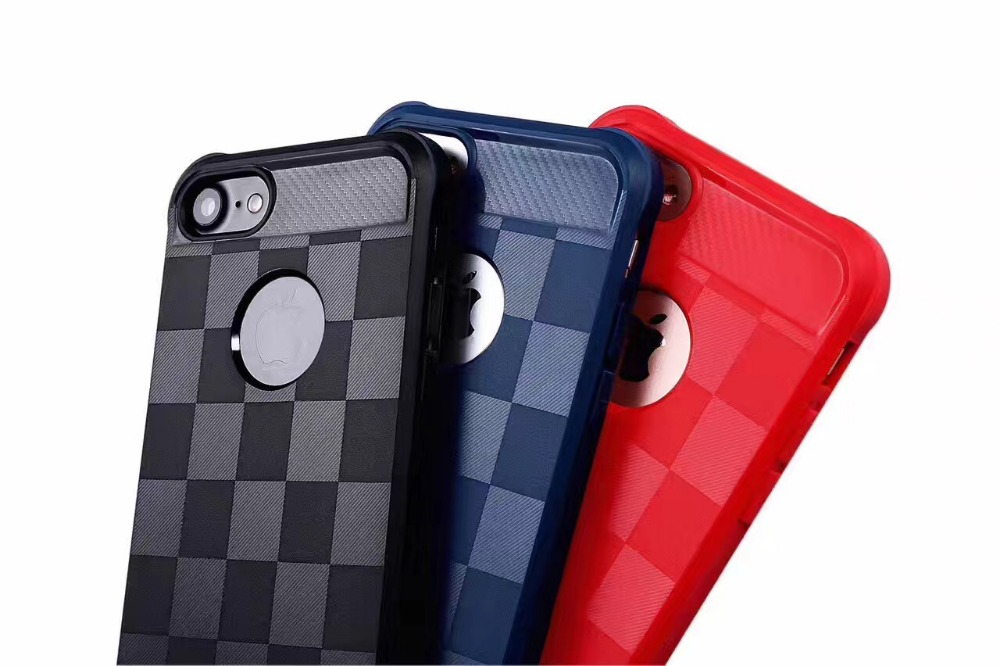 Trellis design New Products Mobile Phone Accessories Silicone PC Hybrid Hard Case
