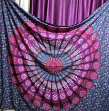 Indian Mandala Hippie Tapestries Wall Hanging Dorm Tapestry Boho peacock Round Mandala