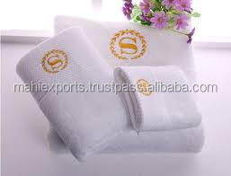 Decorative embroidery 100% cotton hand towels