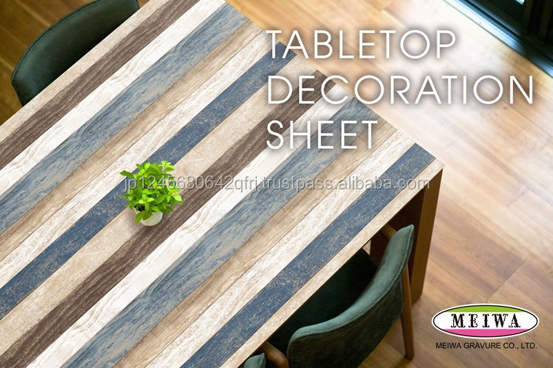 Table decoration sheet by Meiwa Gravure made in Japan [search word->>] folding school desk