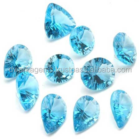 Natural blue topaz loose cut gemstone 11-15 mm size all shaped loose gemstones