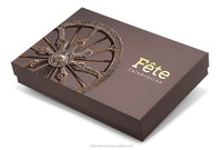 Rigid packaging box for christmas chocolate gift box