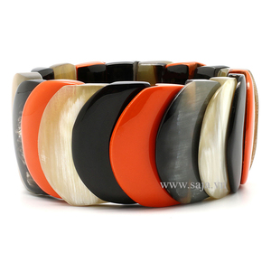 Buffalo horn bracelet from Vietnam hot selling SHB-525, eco-friendly lacquer
