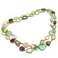 Natural Beauty Multi Stone 925 Sterling Silver Gemstone Necklace, Online Silver Jewelry, Wholesale Gemstone Necklaces