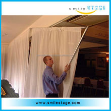 adjustable pipes and wedding ceiling drapes