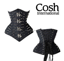 Corset Supplier :Underbust Black Cotton Bondage Corsets | COSH International
