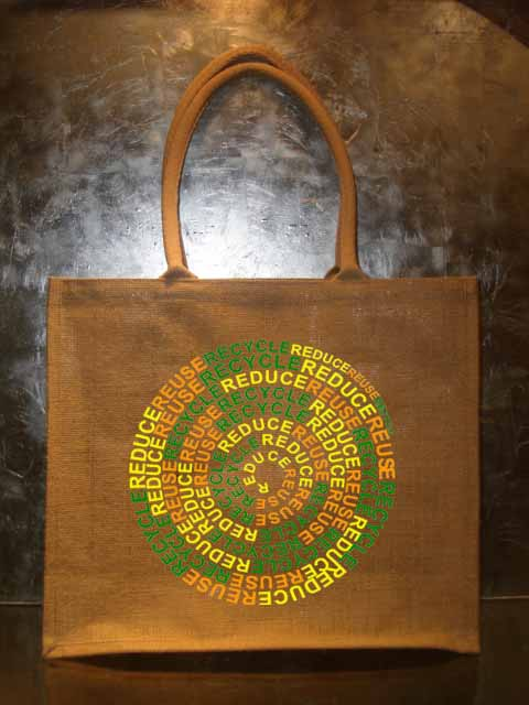 Natural jute carry shopping bags with soft handles
