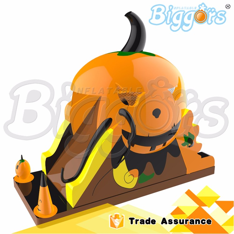 New Design Halloween Pumpkin Inflatable Stair Slide Toys Inflatable Slide for Sale