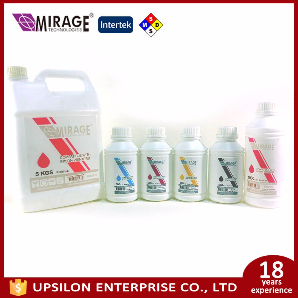 High Transfer Rate CMYK 6Colors Textile Pigment Ink For Epson Hp