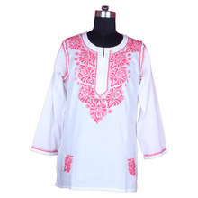 DR158 2016 New Arrival Fancy Kurta For Hot Summer Chicken Designer Ladies Kurti