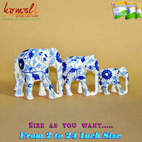 Wood Carving & Hand Painted Home Decor Artifacts - elephant wood carving elephant decor large wooden elephant