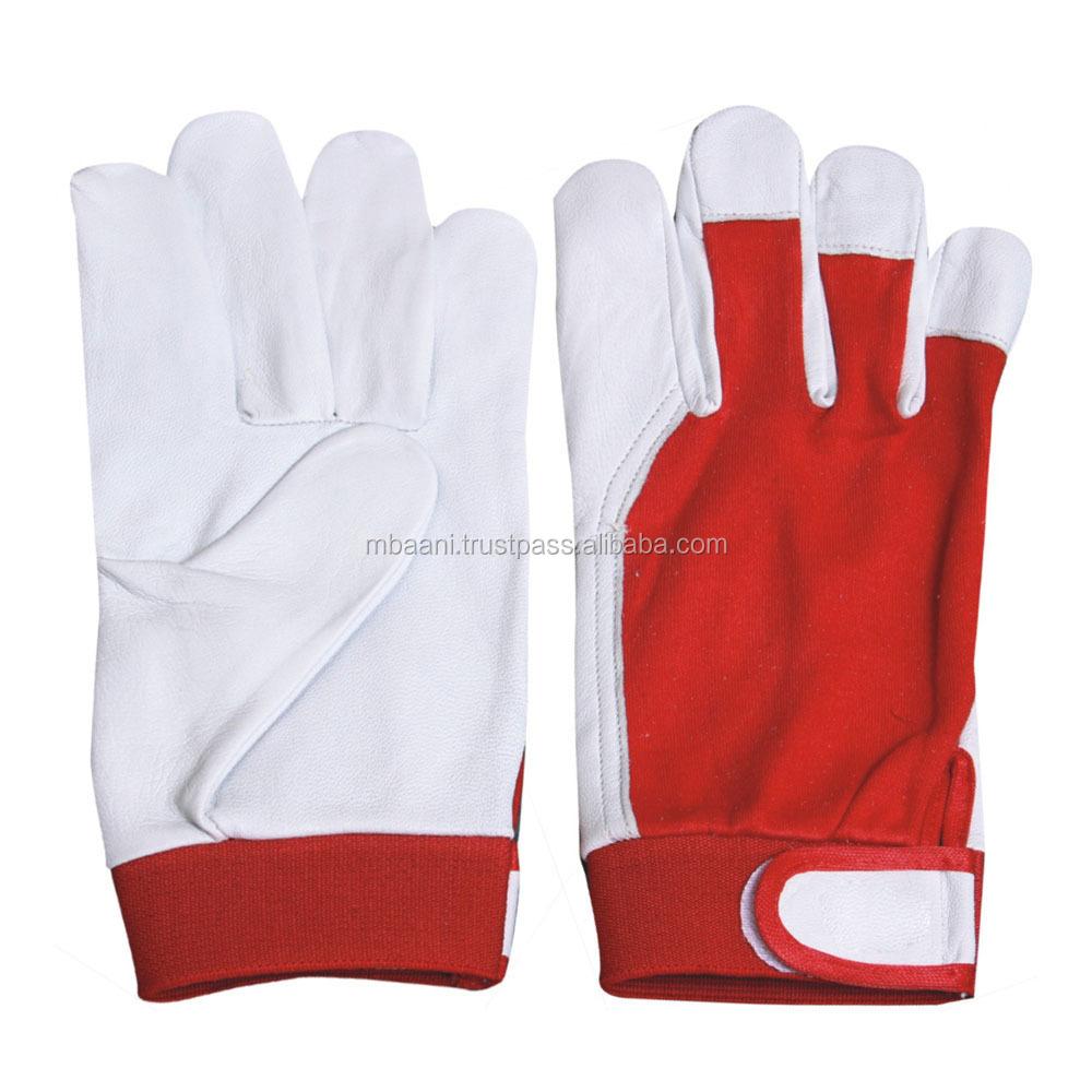 Goatskin leather work gloves - Leather Rigger Gloves Work Goatskin