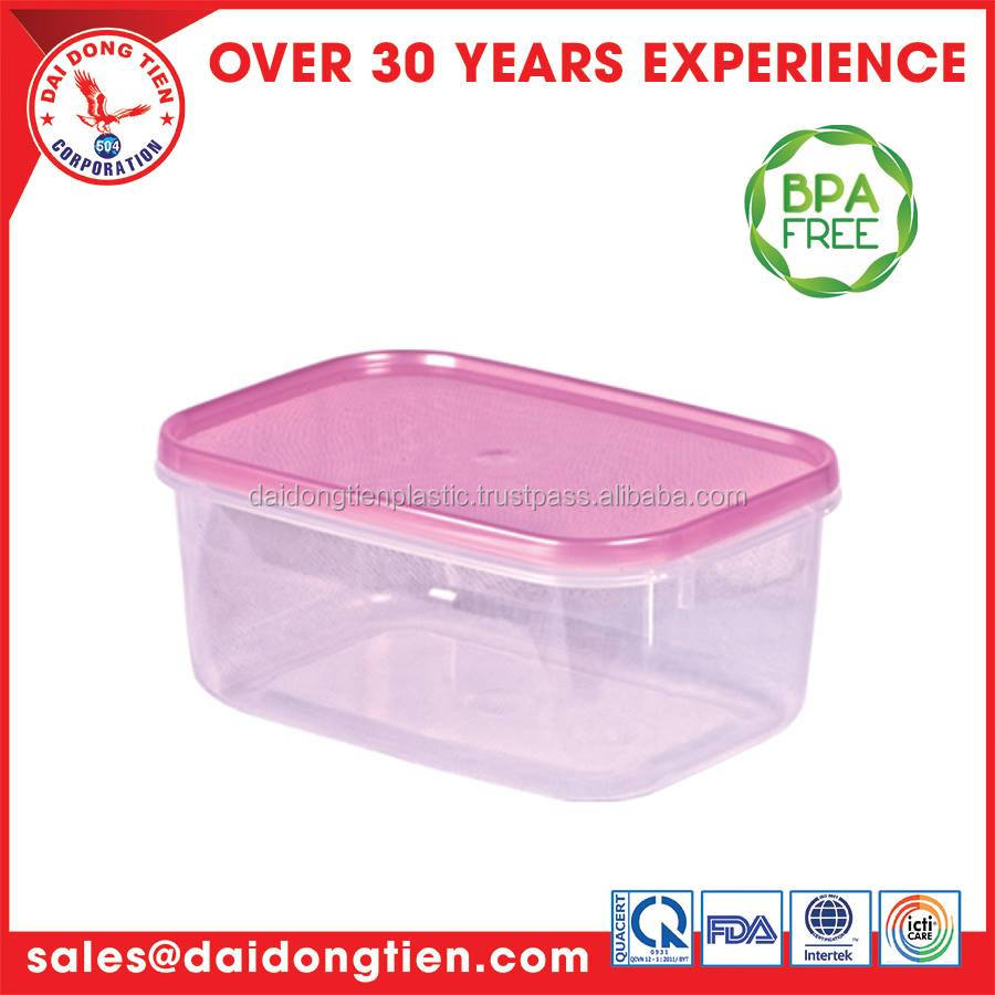Hot sale plastic friut and vegetable food container plastic Rect. Container L508-2