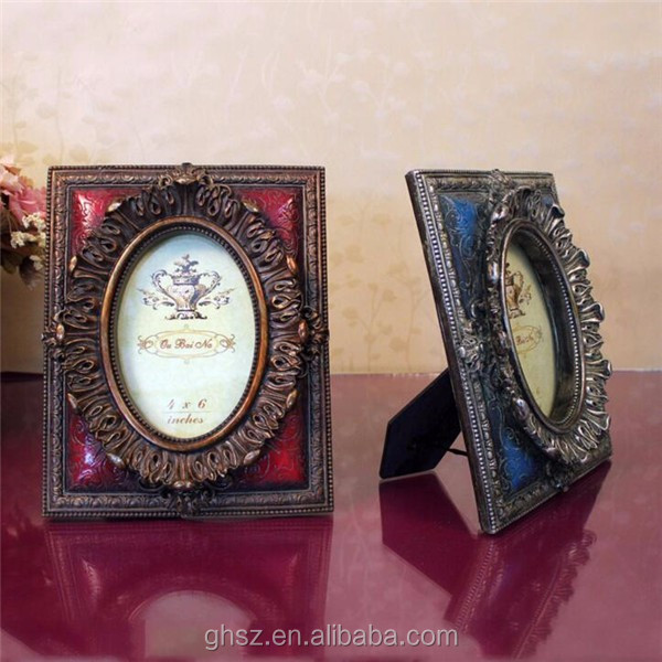 Custom Christmas resin deer head vintage resin photo frame