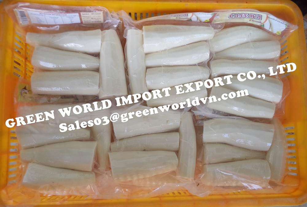 HIGH QUALITY FROZEN PEELED CASSAVA, LOW CYANIDE RATE FOR JAPAN MARKET