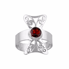 Garnet jewellery 925 silver rings red stone rings jewelry Jaali cut jewelry Handmade jewelry