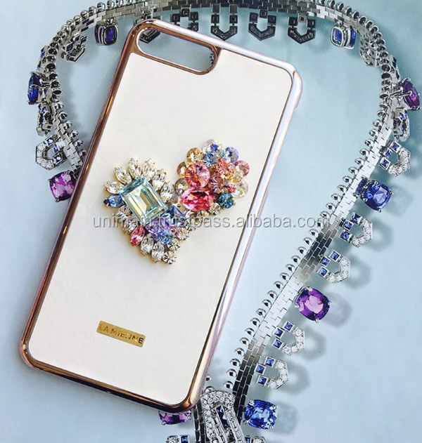 Romantic Heart Mobile Phone Case Jewelry Phone Accessories Mobile Case S8 Case Mobile Phone
