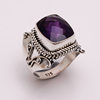 925 Solid Sterling Silver Gemstone Ring, Natural Amethyst silver Jewelry, Australia Jewelry