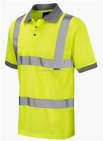 Polo Design Safety T Shirt with Reflective Tape High VIsibility