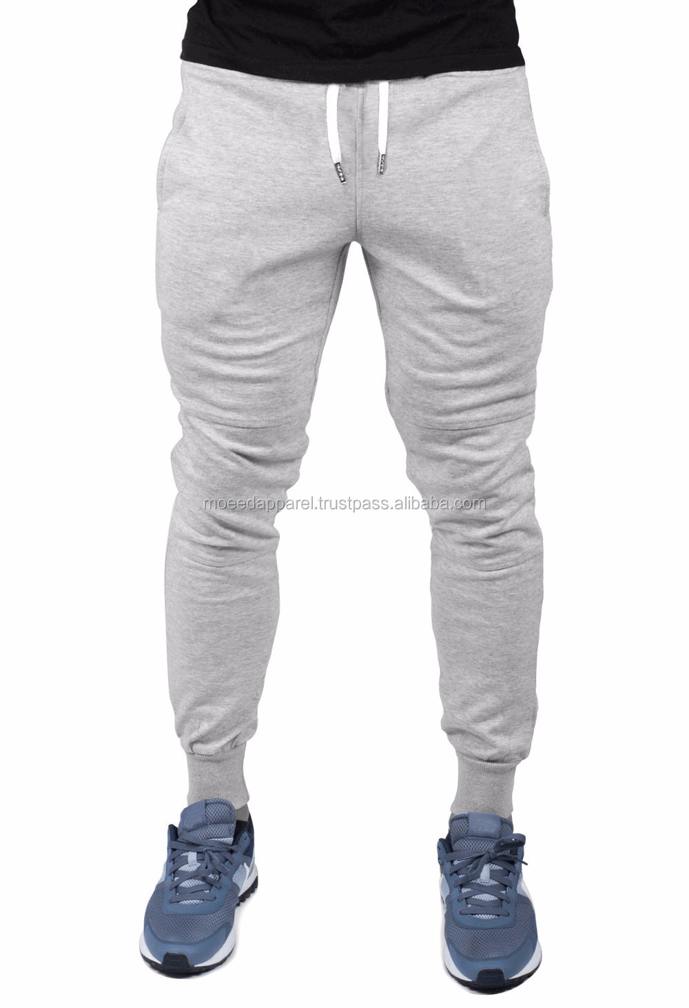 100% cotton Casual Long Trousers Wholesale Men Jogger Sweatpants Blank