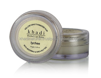 Khadi Natural Herbal Natural Lychee Lip Balm