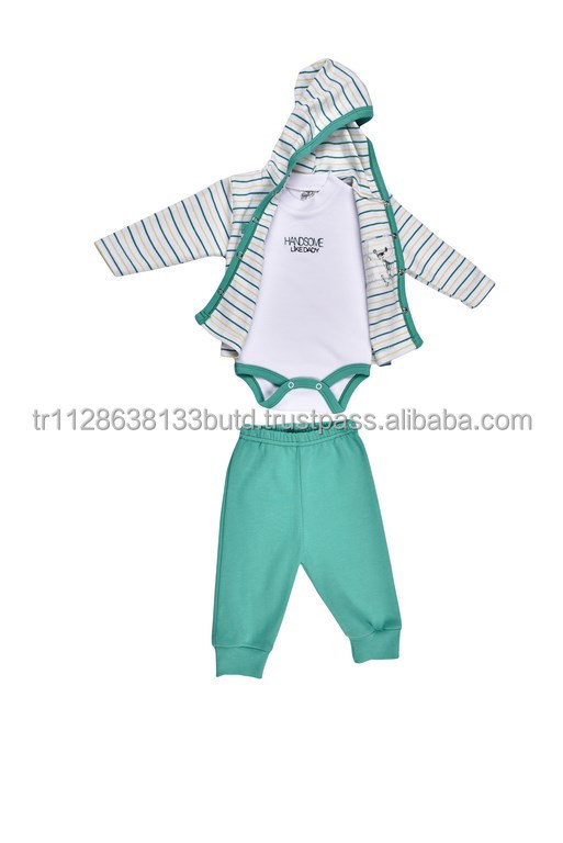 3 Pieces Baby Clothes Softextile in Fabric