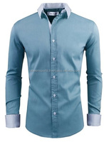 Mens Slim Fit Long sleeve Dress Shirts