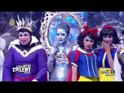 Thailand's Got Talent season 6 'MAGIC MIRROR' ????????? Snow White #Gold en Buzzer 26 6 16 TGT6