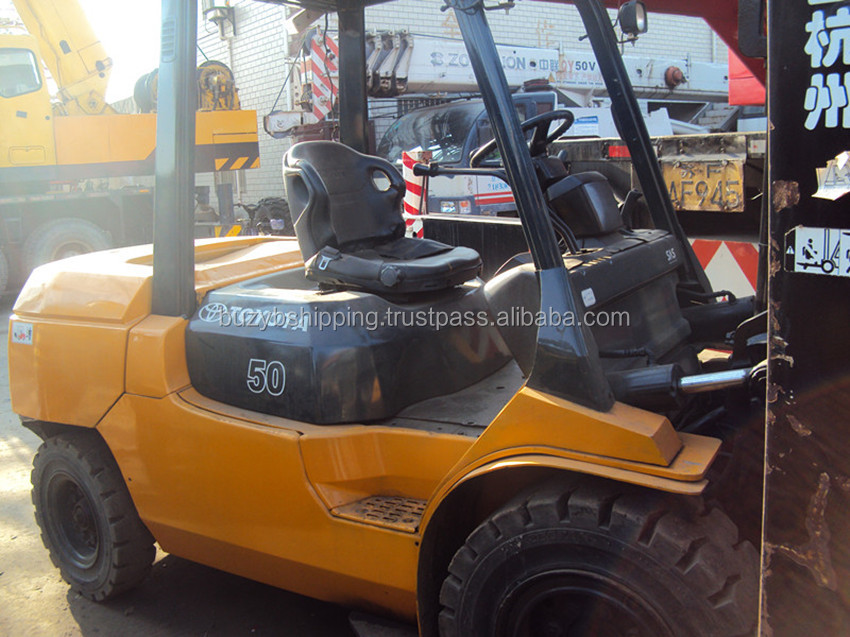 5ton used forklift, used toyota lift truck 5ton FD50, lowest price, hot sale!
