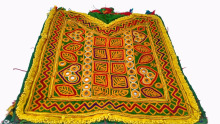 Vintage Handmade Banjara Neck Yoke with mirror work embroidery Handmade