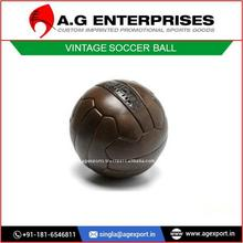 Leather Vintage Soccer Ball Available in Top Quality Leather