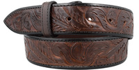 New luxury leather upscale Engraving pattern Western belt straps
