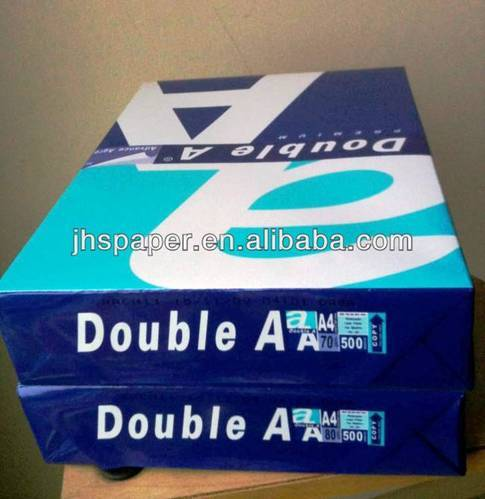 Double A Premium 100% Wood Pulp A4 Copy Paper 80 75 and 70 GSM Available For Sales