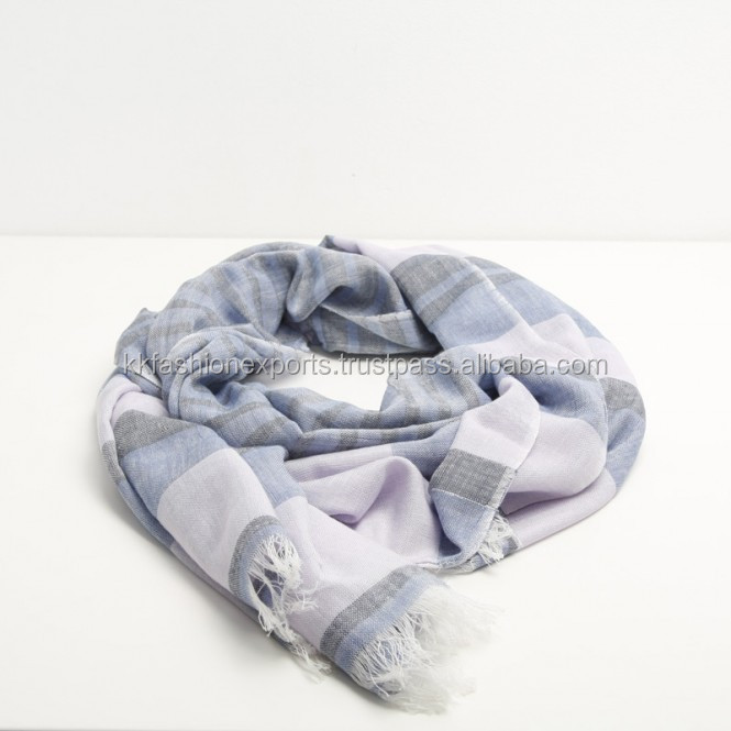 Soft Quality 100% Cotton Woven Summer Men Scarf