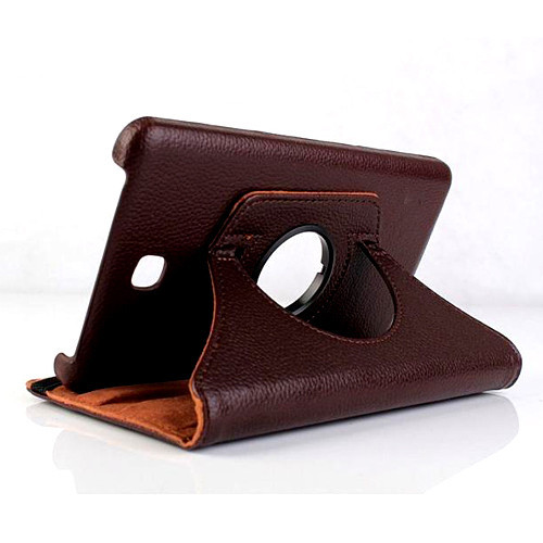 360 rotation Leather Case for Samsung Tab 4 8.0
