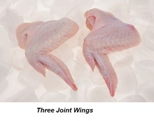 HALAL FROZEN CHICKEN 3 JOINT WINGS - MID WINGS