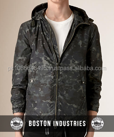 Custom Camo Sublimated Polyester Zip Up Hoodie
