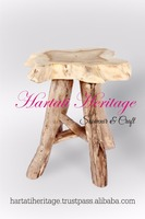 Unique Teak Wood and Root Stool Cafe and Bar Furniture