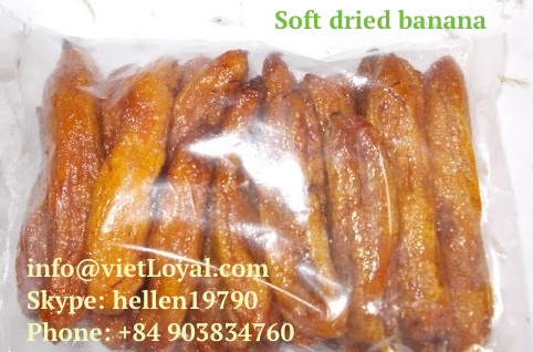 Vietnam Whole Soft Dried Banana BANANA FRUIT