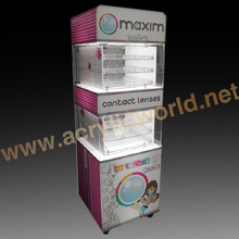 contact lenses contact lens display stand & counter top contact lens display case & acrylic contact lenses display