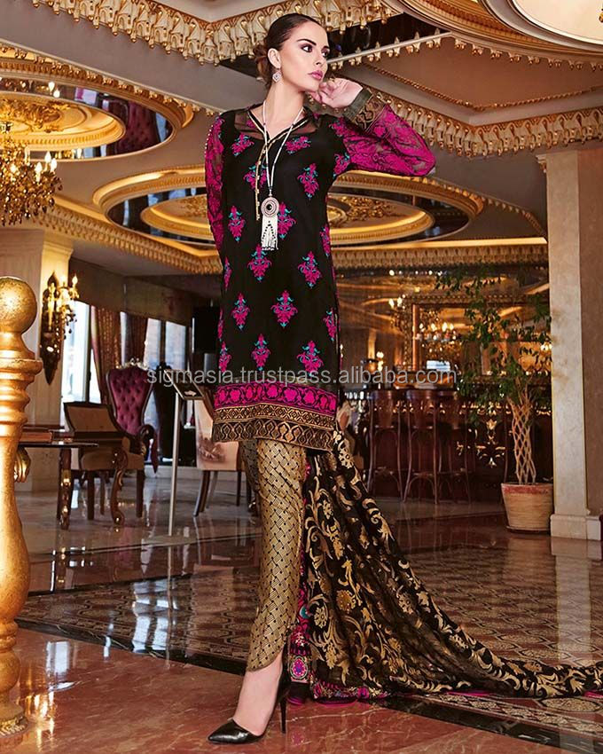 Ladies Designer Linen Embroidery Suits