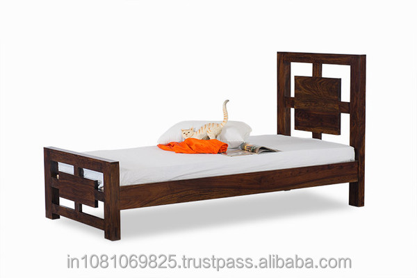 SOLID WOOD SINGL COTS BED FURNITURE